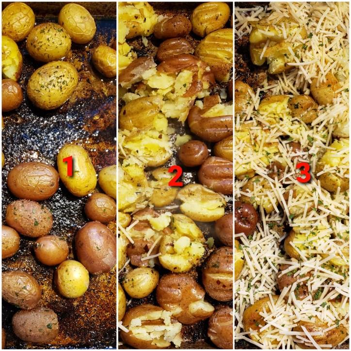 Crispy Parmesan Potatoes Prep