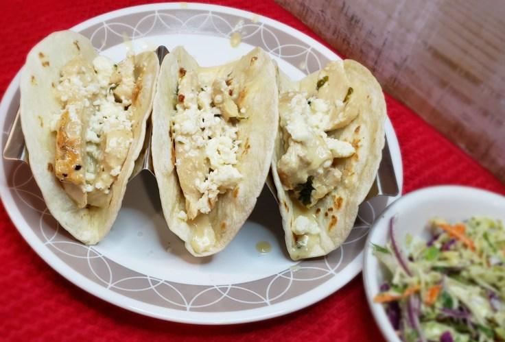 Creamy Cilantro Lime Chicken Tacos