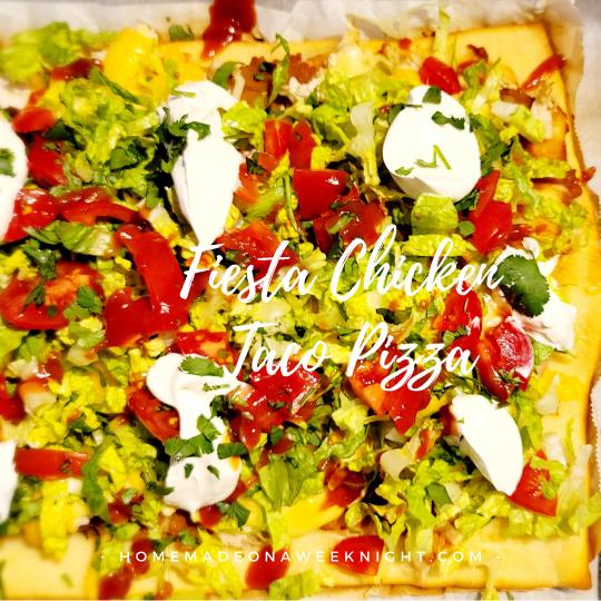 Fiesta Chicken Taco Pizza