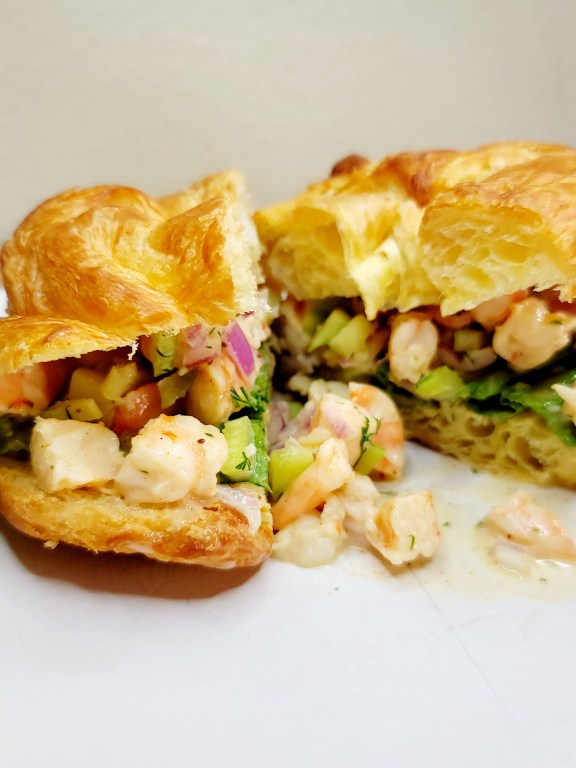 Dill Shrimp Salad Sandwich
