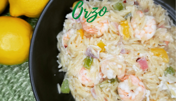 Shrimp & Peppers Orzo