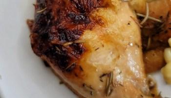 Rosemary Lemon Spatchcock Smoked Chicken