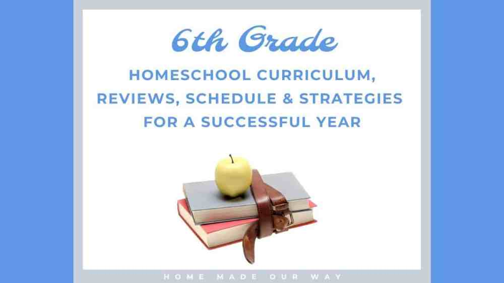 medium resolution of 6th-Grade Schedule for Homeschool - Strategies You Can Use