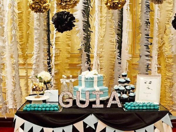 Guia's Breakfast at Tiffany's Birthday Party