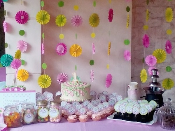 Kendra's Pink and Lime Green Birthday Party