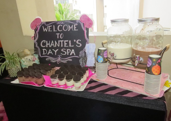 Chantel's Spa Party