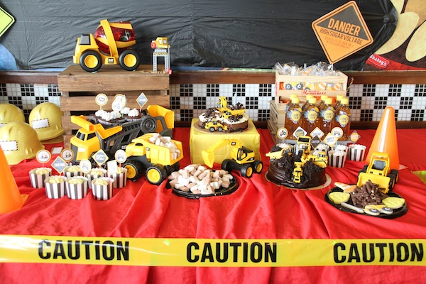 Liam's Construction Truck Party