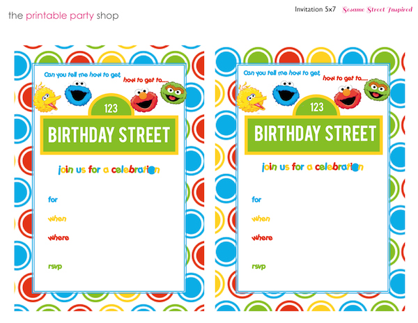 Homemade Parties_DIY Party_Sesame Street Printables11