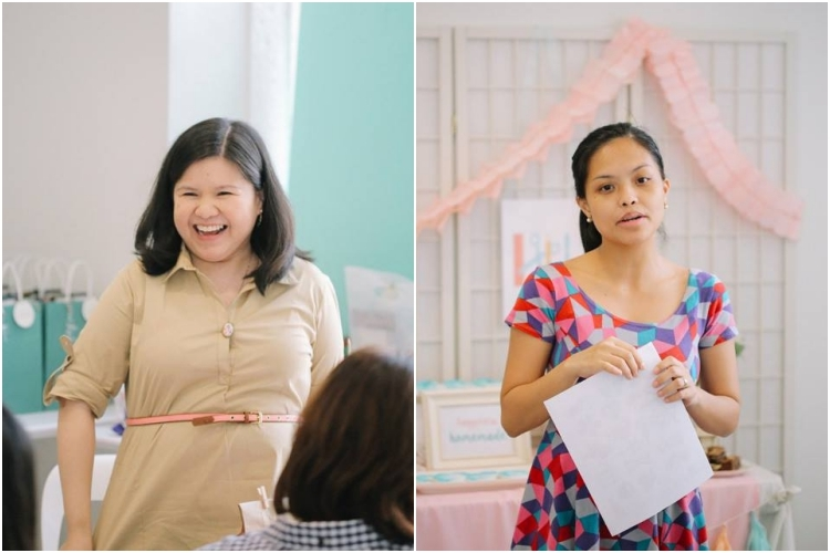 That's me excitedly welcoming the participants and Nica opening the workshop by sharing her love for homemade parties.