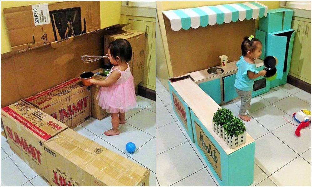 DIY Cardboard Kitchen Cafe Pantry Playset24