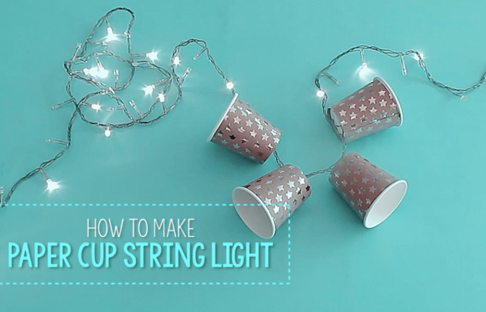 How to Make Paper Cup String Lights