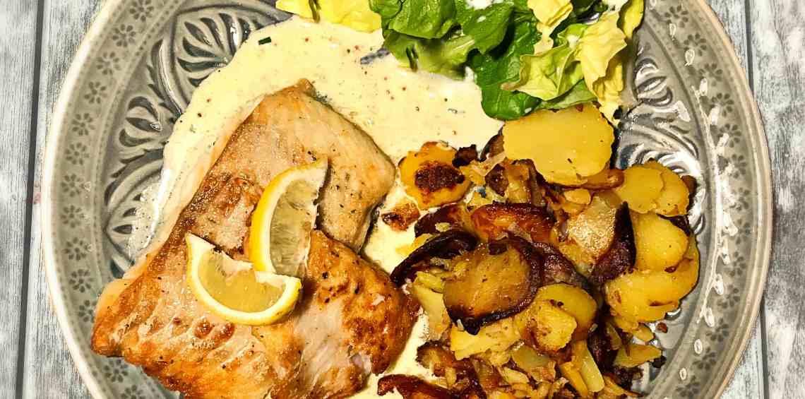 Pannfisch mit Senfsauce