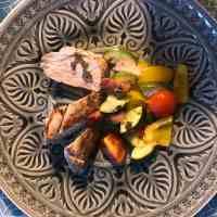 Schweinefilet mit Zucchini-Paprika-Gemüse