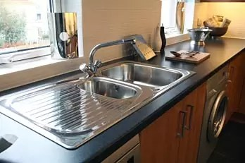 a drop in with an undermount sink