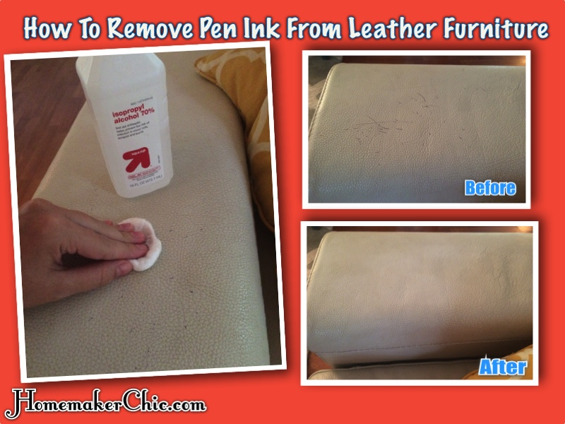 how to remove pen ink from white leather sofa selections jonestown road harrisburg pa homemaking | homemaker chic