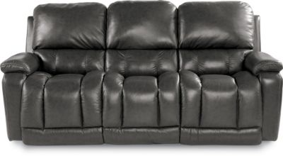 lazy boy sofas and sectionals how to make a sofa slipcover stay in place la-z-boy greyson gray 100% leather reclining ...