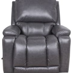Lazy Boy Recliner Chairs Folding Rocking Camp Chair La-z-boy Greyson Gray 100% Leather Rocker | Homemakers Furniture