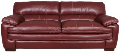 lazy boy reclining sofa and loveseat brown leather decorating living room la z dexter 100 red homemakers furniture