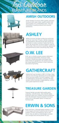 the 6 best outdoor furniture brands for