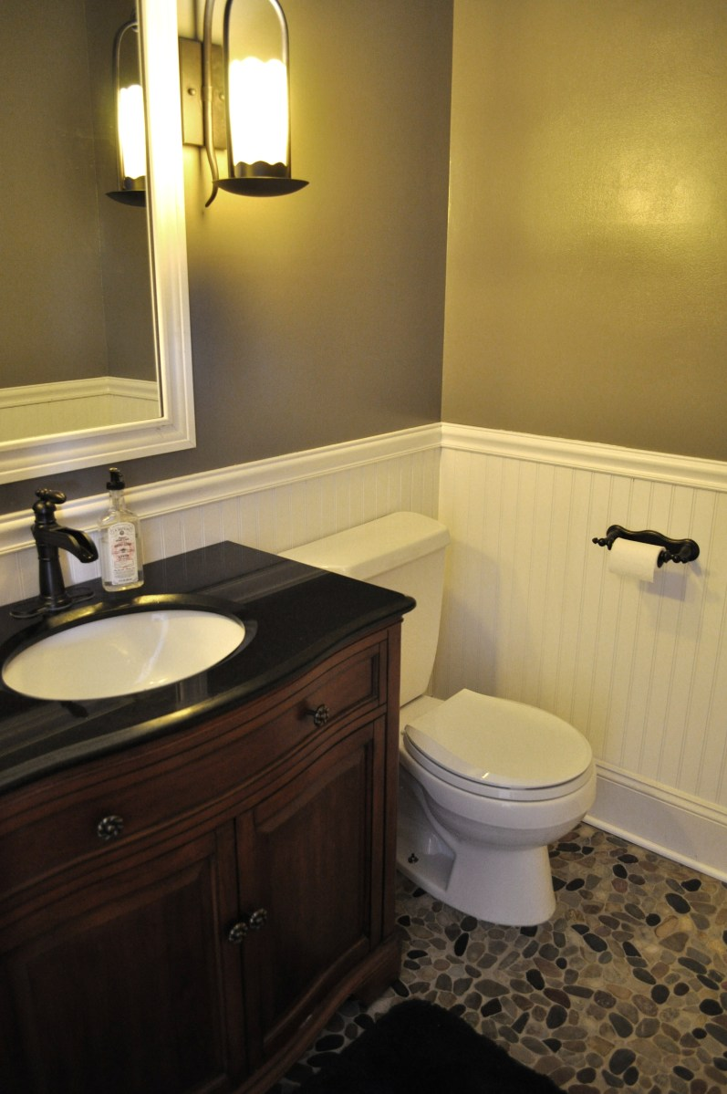 DIY Bathroom Makeover  A Homemakers Unexpected Talent