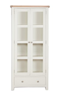 Melbourne Ivory Glazed Display Cabinet | Home Max Furniture