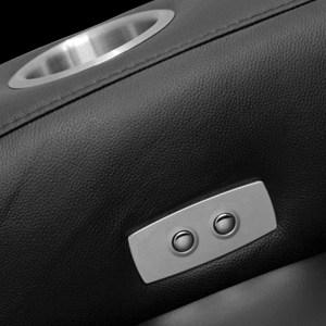 Palladio Napoli Love Seat Home Cinema Seating Black Inlaid Controls