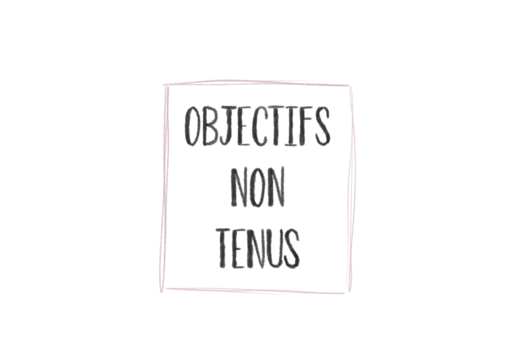 objectifs non tenus