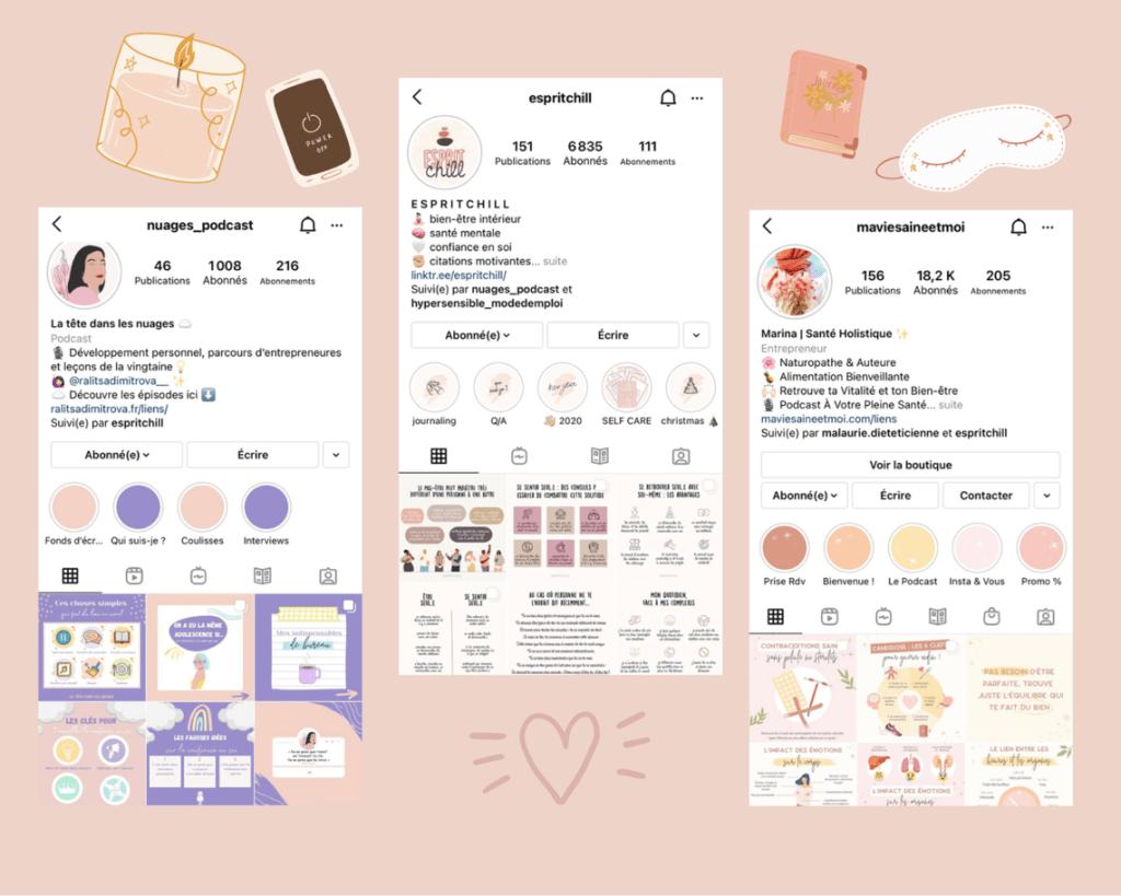 comptes instagram