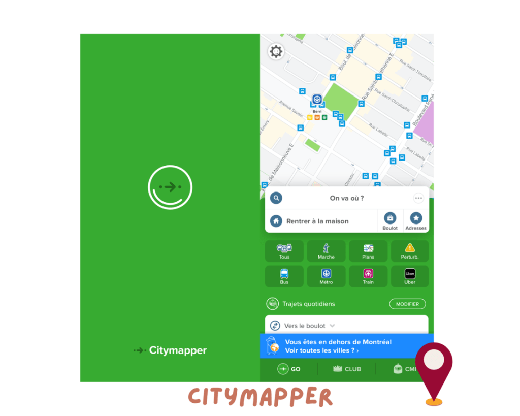 city mapper appli gps