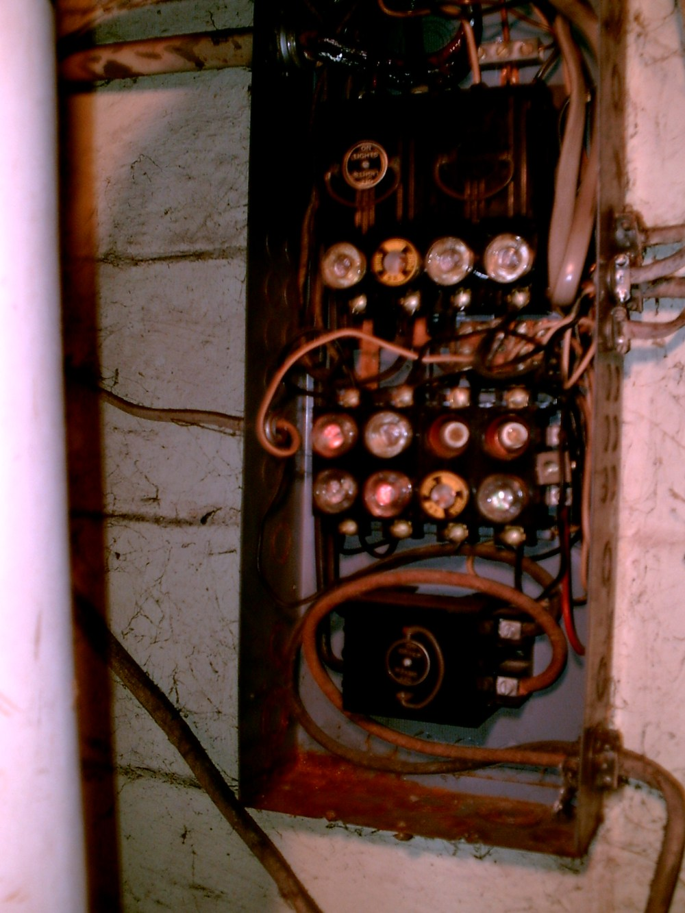 medium resolution of when we bought the house it had the old electrical fuse box the above pictures