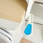 Handicare Smart seat swivel handle, close up