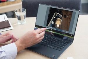 Handicare 4D survey tablet screen