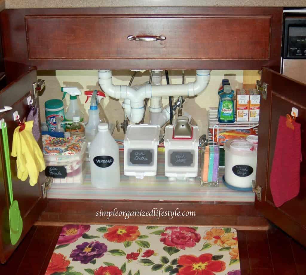 kitchen sink organizer storage ideas