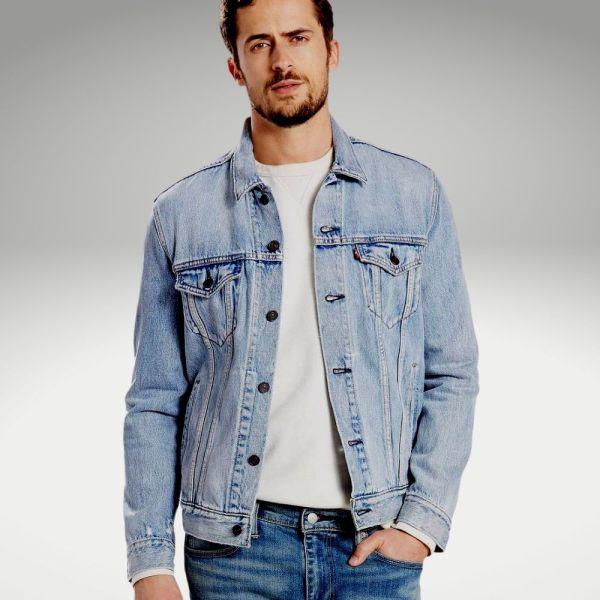 Peças básicas do guarda-roupa masculino - jaqueta jeans - Único