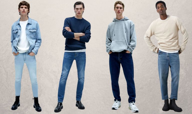 Slim skinny straight loose regular - tipos de jeans masculinos - carrot - taper jeans