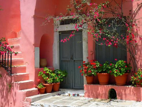 Beautiful Doors Design With Flower Decor