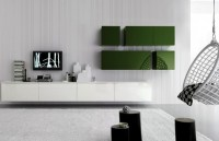 Stylish and Modern Wall Storage System in Interior House ...