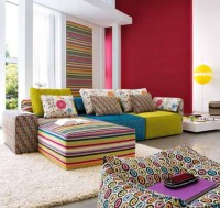 10 Modern Living room Design : Make Over Colorful Fabrics ...