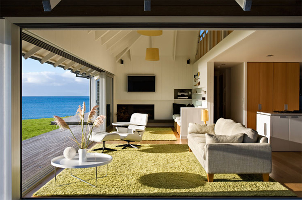 Beach House With Relaxation Outdoor Furnitures In Australia Home