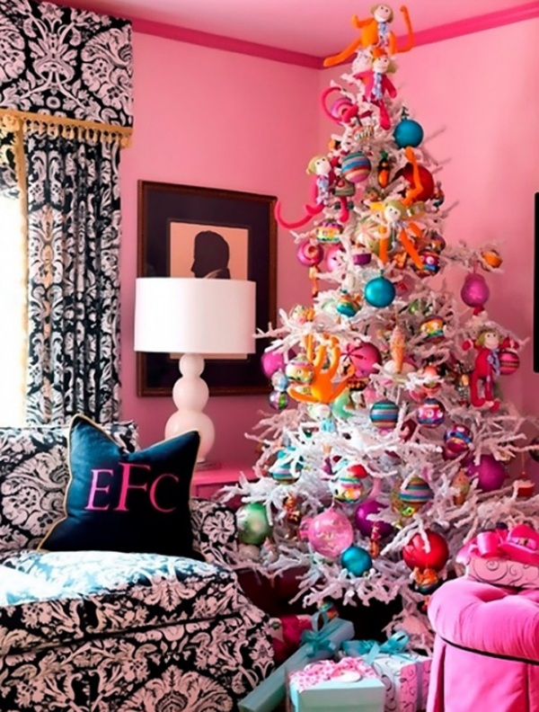 cuteandbeautifulpinkchristmastreedecorations