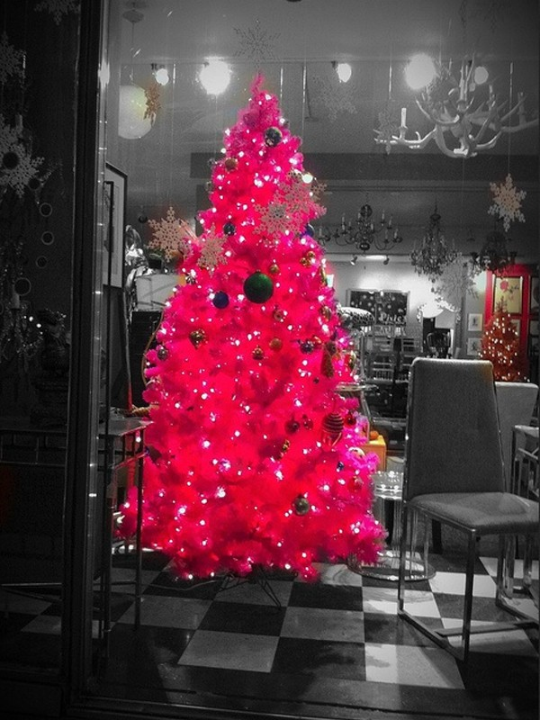 living room decorating couches set cute-and-beautiful-pink-christmas-tree-decor