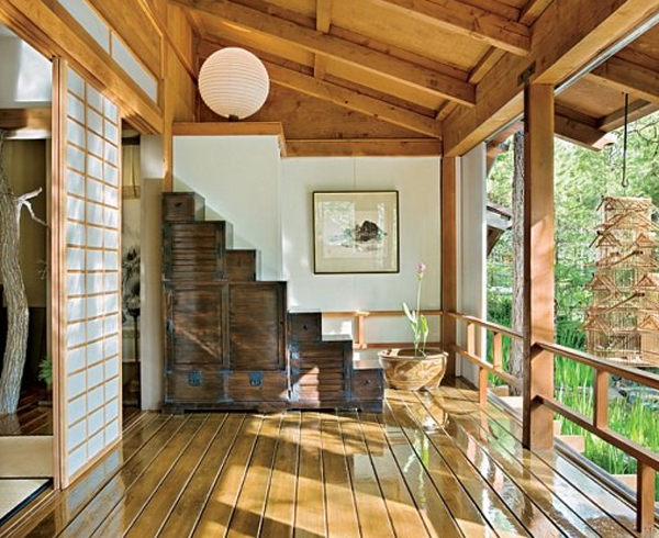 Traditional Japanese House Decorations With Stunning Forest