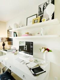 white-home-office-room-design