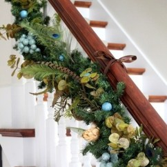 Sofa And Chairs Portable Baby High Beautiful-christmas-stair-garland-ideas