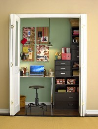 20 Cool and Stylish Home Office In A Closet Ideas | Home ...