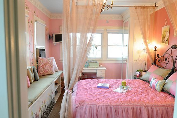 stylishpinkbedroomdecorationsforgirl