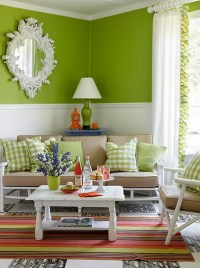 15 Chic and Colorful Spring Living Room Designs