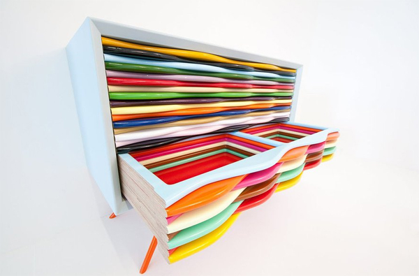 Modern and Colorful Furniture : Edna Dressers by Anthony