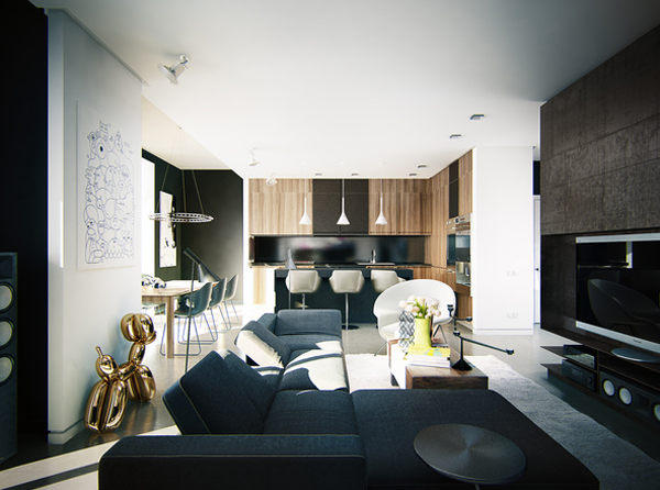 Masculine Apartment Ideas Contemporary Art By KOKO