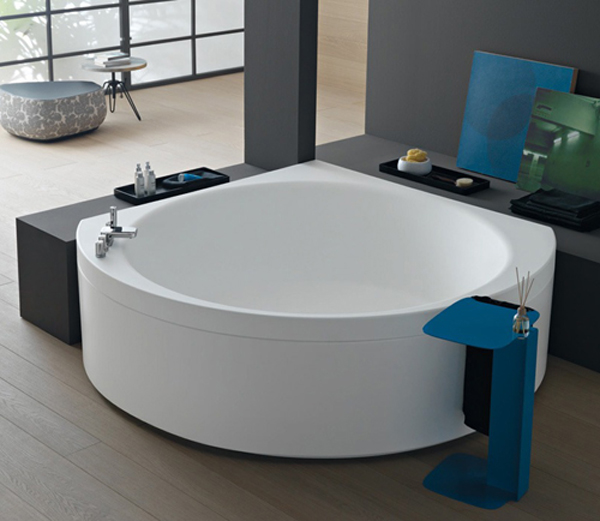 Small Corner Bathtub Design by Albatros  Home Design And